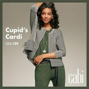 CAbi #3526 Cupids Cardi in black & white stripe